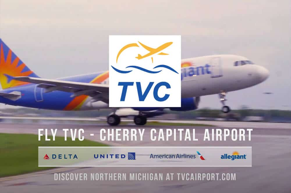 jet takes off at TVC airport