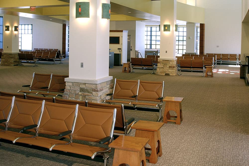 passenger boarding area, seating and gates