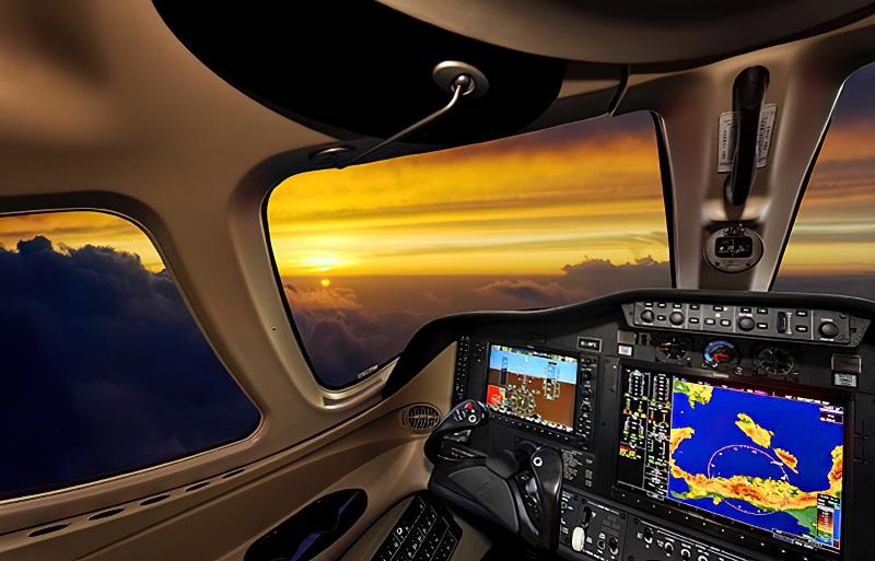 45 North Avionics airplane interior