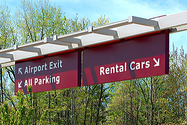 Rental Cars sign TVC