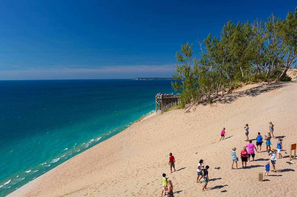 Dunes and people at Sleeping Bear National Lakeshore