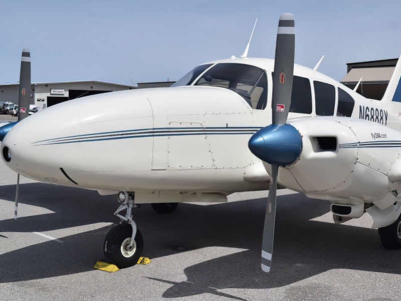 Prop plane at Giving Wings Aviation