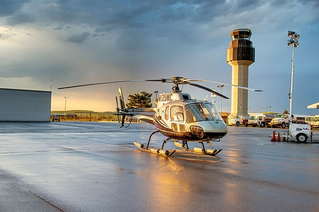 TC Helicopter Tours at sunrise