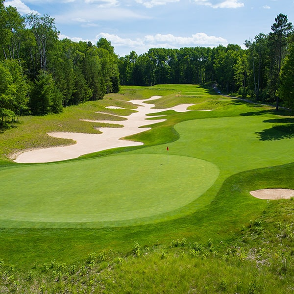 view of a golf course in Northern Michigan