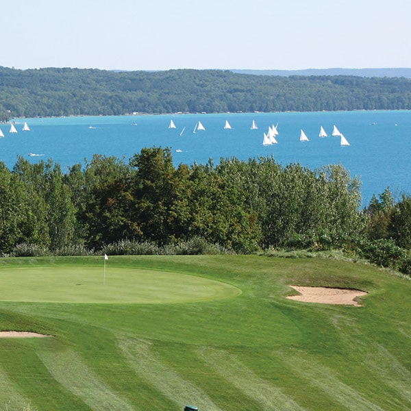 A-Ga-Ming golf course and Torch Lake