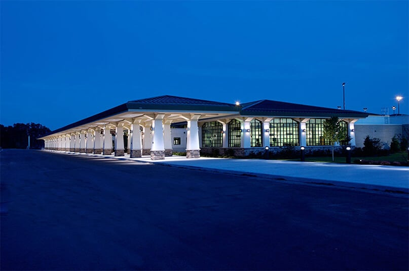 TVC Terminal Building at night
